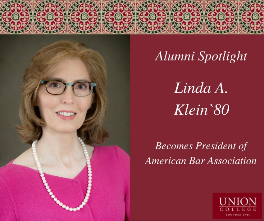 Linda A. Klein `80 Becomes President of American Bar Association