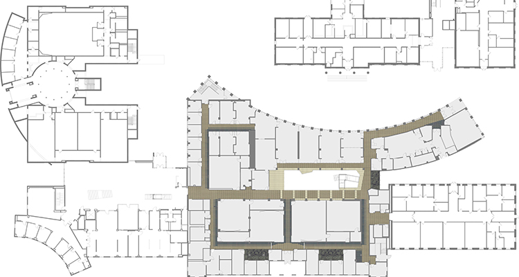 Floor plans of the new S& building